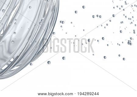 3D striped decorative balls. Abstract 3d illustration. Glass