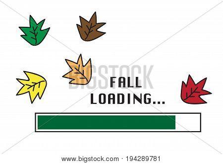 Autumn Season Colorful Leaves Fall Loading Bar