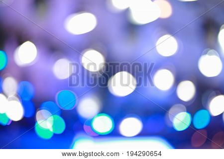 Defocused Blurry Focus Lighting Blue Effects Background