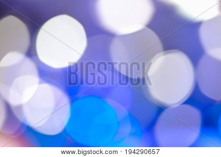 Defocused blurry focus lighting blue color effects background