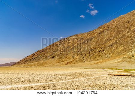 Badwater in Death Valley National Park the hottest place California USA