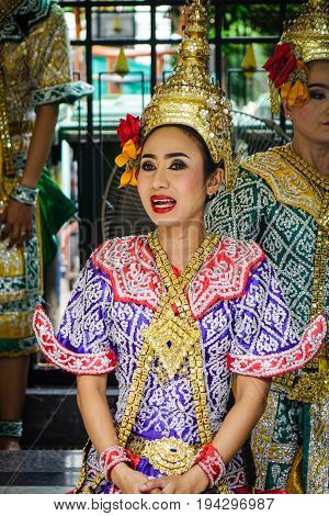 Traditional Dancers In Bangkok, Thailand