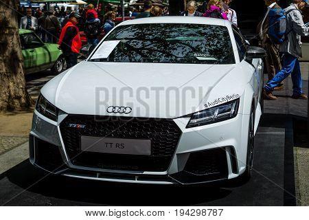 BERLIN - JUNE 17 2017: Sports car Audi TT RS produced since 2009. Classic Days Berlin 2017.
