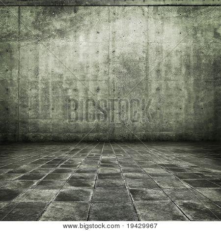 sepia gray grunge room