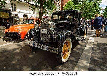 BERLIN - JUNE 17 2017: Vintage car Ford Model A Business Coupe 1931. Classic Days Berlin 2017.