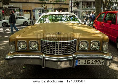 BERLIN - JUNE 17 2017: Large personal luxury coupe Ford Thunderbird (sixth generation) 1973. Classic Days Berlin 2017.