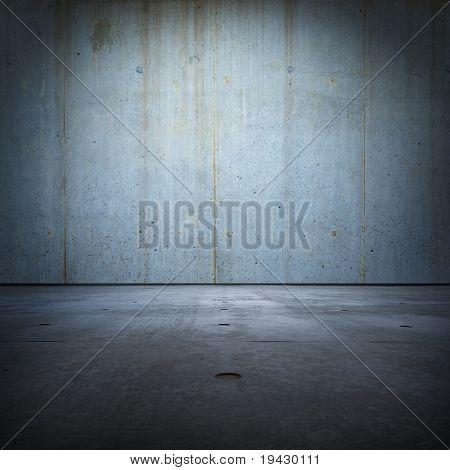 Raw concrete grunge room