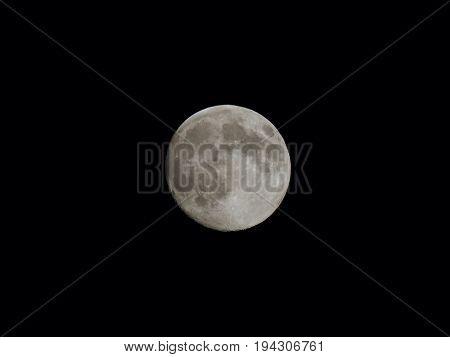 Full moon seen with a tele lens