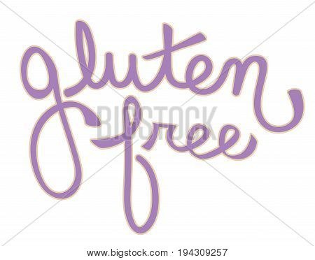 Purple Gluten Free Cursive Calligraphy Lettering Sign
