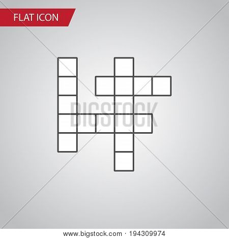 Isolated Crossword Flat Icon. Guess Vector Element Can Be Used For Guess, Crossword, Puzzle Design Concept.