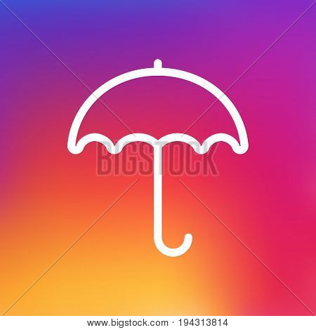 Isolated Umbrella Outline Symbol On Clean Background. Vector Parasol Element In Trendy Style.