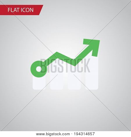 Isolated Arrow Flat Icon. Growth Vector Element Can Be Used For Growth, Arrow, Diagram Design Concept.