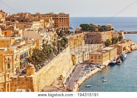Stunning image of the Grand Harbour. Location place ancient city Valletta, Malta island, sightseeing Europe. Gorgeous day and picturesque scene. Popular tourist attraction. Beauty world.