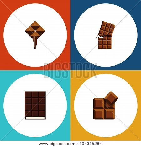 Flat Icon Bitter Set Of Wrapper, Cocoa, Dessert And Other Vector Objects. Also Includes Delicious, Chocolate, Wrapper Elements.