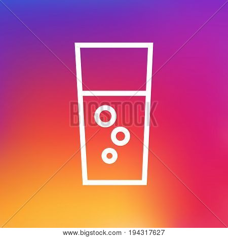 Isolated Soda Outline Symbol On Clean Background. Vector Fizzy Water Element In Trendy Style.