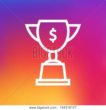 Isolated Goblet Outline Symbol On Clean Background. Vector Achievement Element In Trendy Style.
