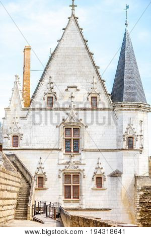 Architectural fragment of the castle of Dukes of Brittany in Nantes city in France