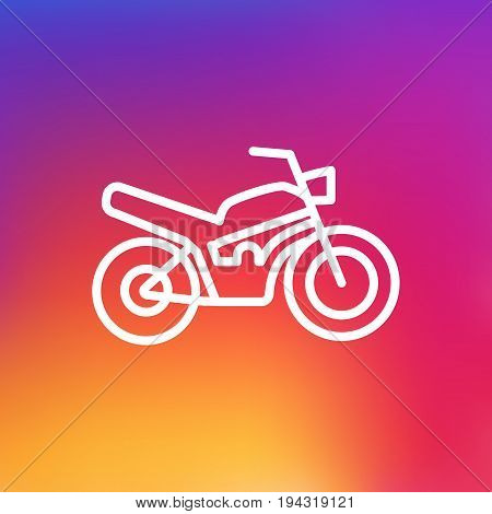Isolated Motorbike Outline Symbol On Clean Background. Vector Motorcycle Element In Trendy Style.