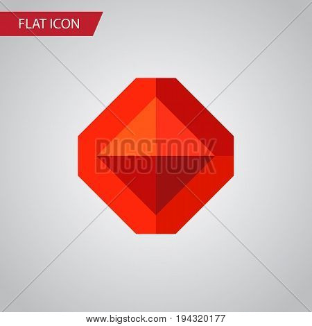 Isolated Treasure Flat Icon. Jewel Vector Element Can Be Used For Treasure, Jewel, Brilliant Design Concept.