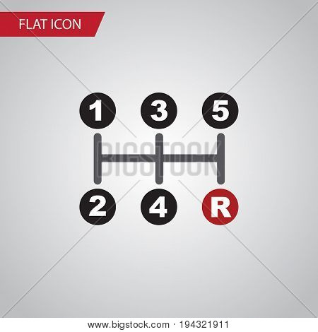 Isolated Manual Transmission Flat Icon. Carrying Vector Element Can Be Used For Manual, Transmission, Carrying Design Concept.