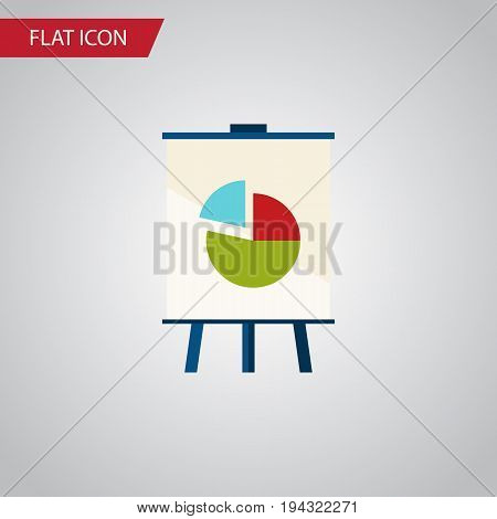 Isolated Chart Flat Icon. Easel Vector Element Can Be Used For Easel, Pie, Chart Design Concept.