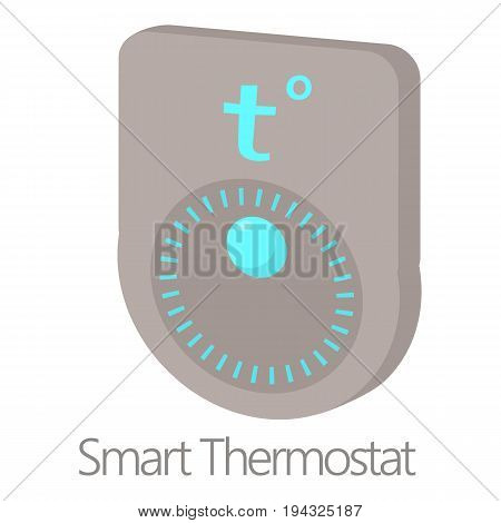 Smart thermostat icon. Cartoon illustration of smart thermostat vector icon for web isolated on white background