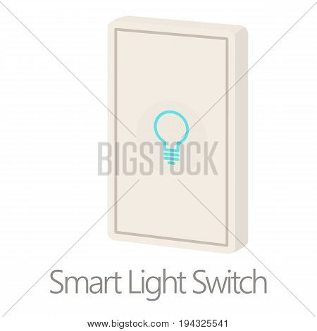 Smart light switch icon. Cartoon illustration of smart light switch vector icon for web isolated on white background