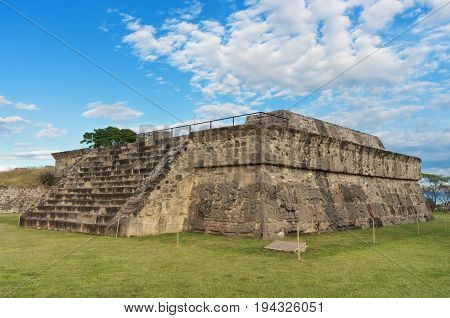 Temple Of The Feathered Serpent In Xochicalco. Mexico.