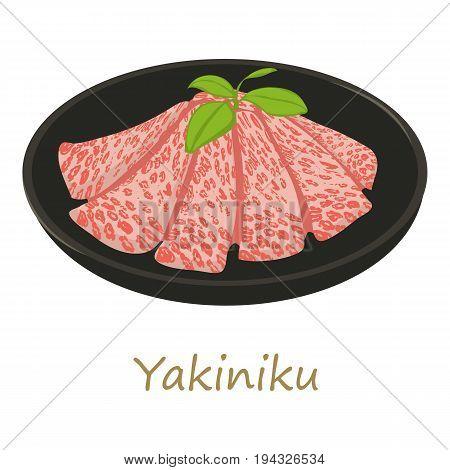 Yakiniku icon. Cartoon illustration of yakiniku vector icon for web isolated on white background