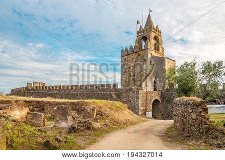 View at the watchtower of Montemor-o-Novo castle in Portugal