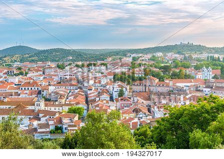 View at the Montemor-o-Novo town in Portugal