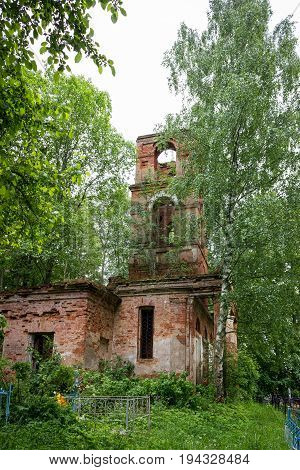 Temple of St. Nicholas in the village of Gribny. Russia, Tver region.