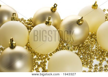 Golden Globes And Beads