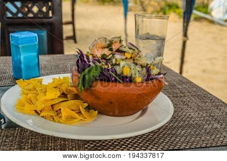 Ceviche dish food highly appreciated by the coastal towns of the Pacific in South America