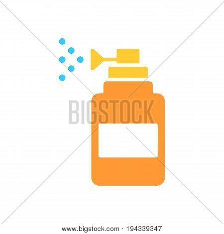 Spray vector icon. Spray bootle solid flat design. Eps 10