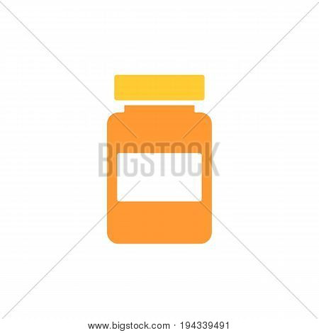 bootle of drugs isolated icon. vector illustration. Bootle of medicines solid flat icon. Eps 10