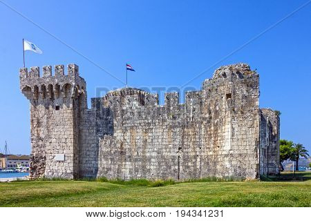 Trogir ancient fortress historical building architecture, Croatia