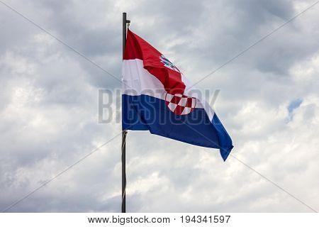Croatian flag trecolor national symbol, Croatia national symbol