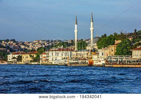 Istanbul city, Bosporus panoramic sea view, Turkey