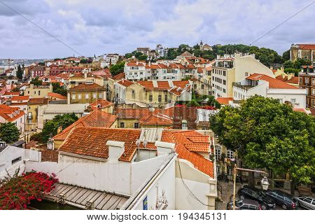 LISBOA. PORTUGAL - MARCH 4 2017: Lisboa town houses. Portugal