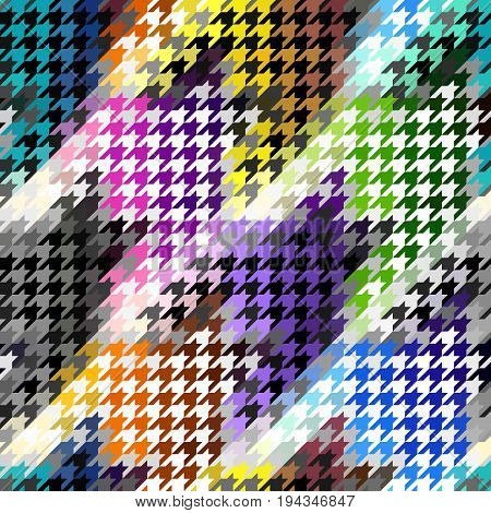 Seamless background pattern. Geometrical Hounds-tooth pattern in abstract geometric style.