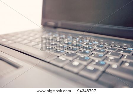 Cropped image of laptop keyboard