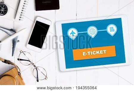 E ticket application on tablet and smartphone
