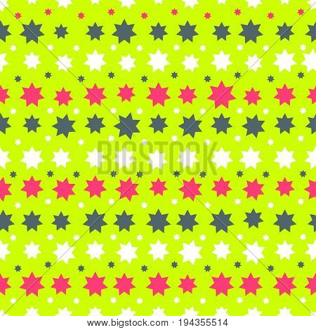 Abstract Seamless Pattern with stars. Endless texture can be used for wallpaper pattern fills web page background surface texture.