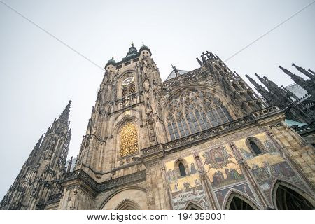 St. Vitus Cathedral In The Prague Castle Area, Czech Republic.