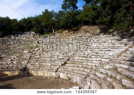 Ruins Of Round Theater In Phaselis