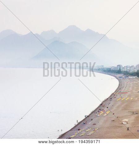 Antalya Beach In Kemer, Turkey