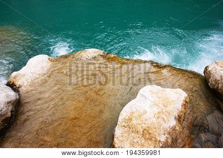 Pebble Stones Under Clear Water