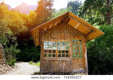 Wooden House In A Forest