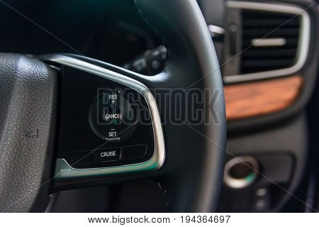 Power steering with Paddle Shift / Cruise Control button on the steering wheel Car interior
